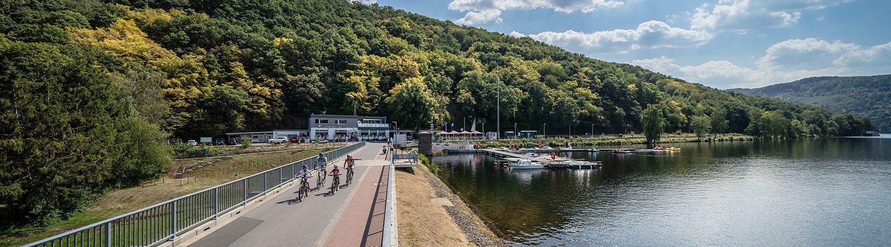 RurUfer-Radweg Stausee Obermaubach