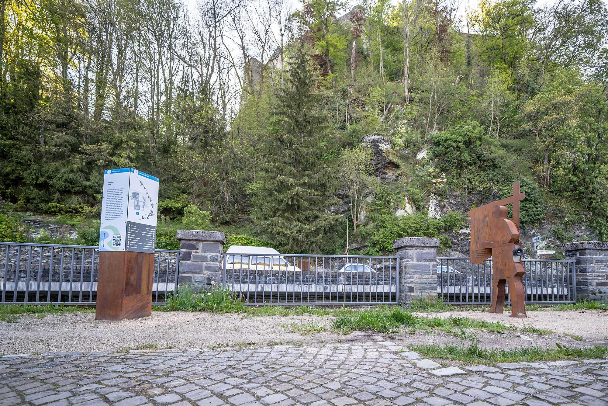 RurUfer-Radweg Rast- und Erlebnisstation Färber in Monschau