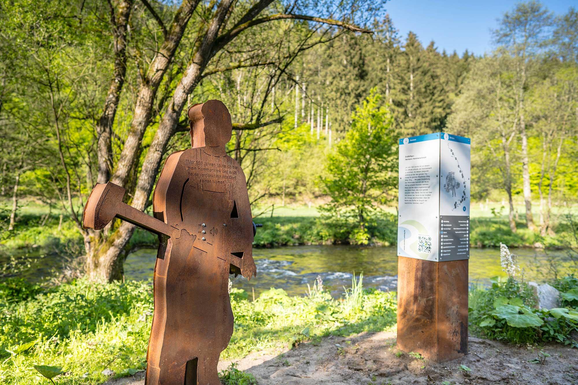RurUfer-Radweg Rast- und Erlebnisstation Hermann Hammerschmidt aus Hammer