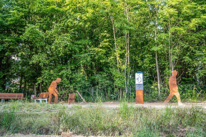 RurUfer-Radweg Rast- und Erlebnisstation Schützenbruder am Grenzübergang Effeld