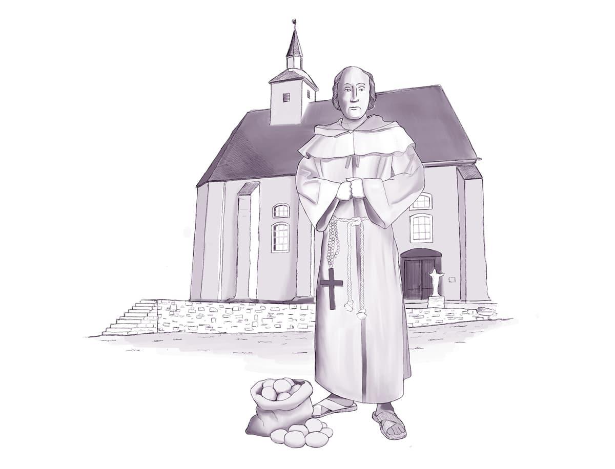 Prior Stephan Horrichem vom Kloster Reichenstein