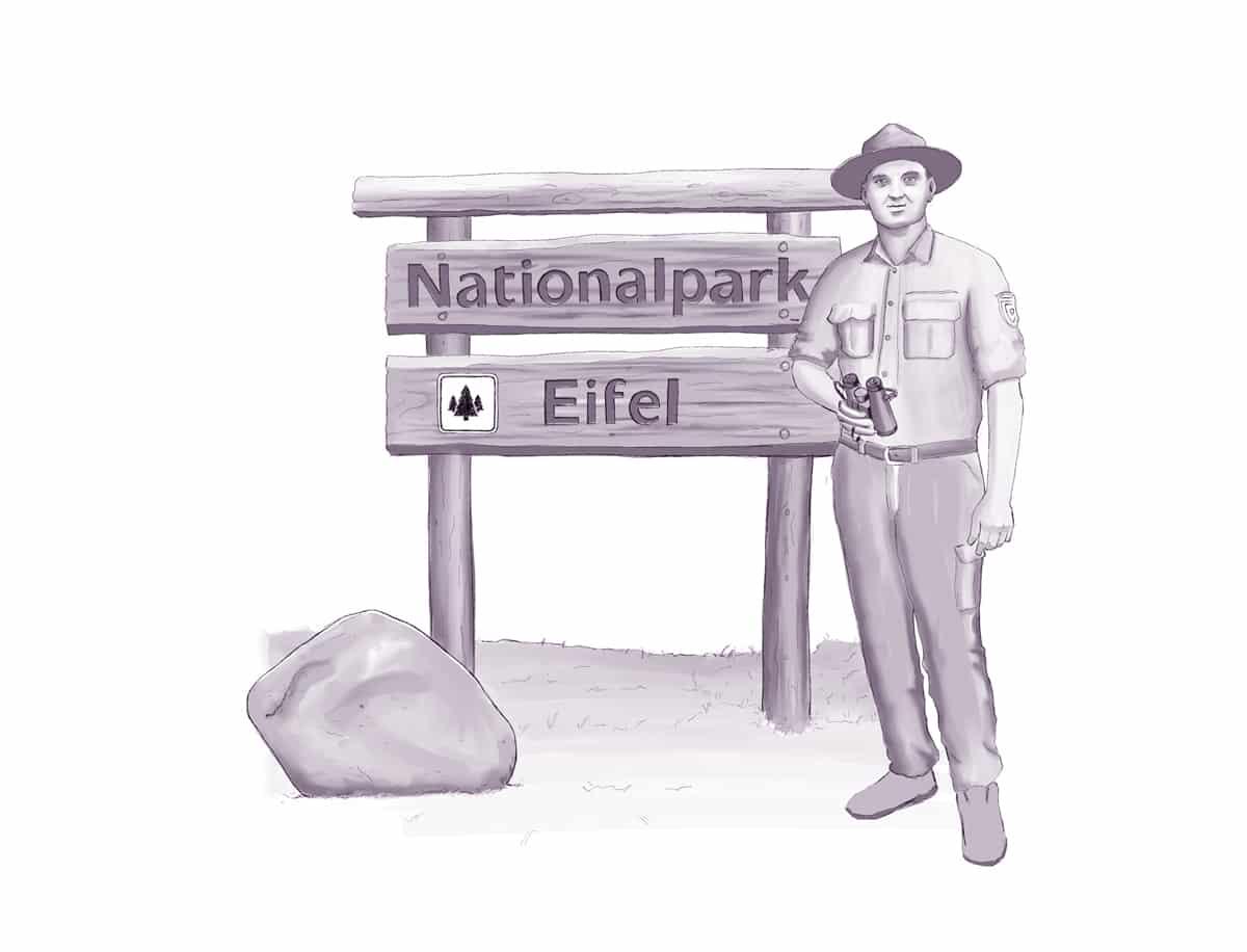 Nationalpark-Ranger im Nationalpark Eifel